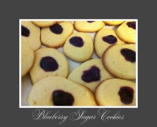 Blueberry sugar cookies